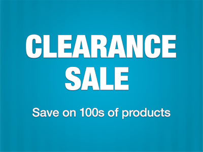 Save on 100s of products in our Clearance Sale