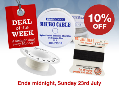 Deal of the Week: 10% OFF Silks and Nylon Wire