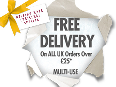 FREE DELIVERY on all UK orders over £25