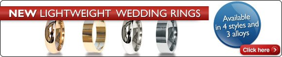 New Lightweight Wedding  Bands