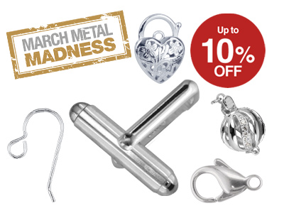 March Metal Madness - 10% Off Silver Findings*
