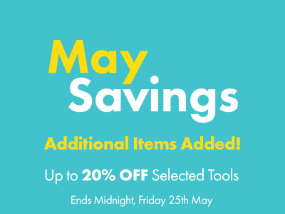 Additional Tools and Equipment added to May Saving