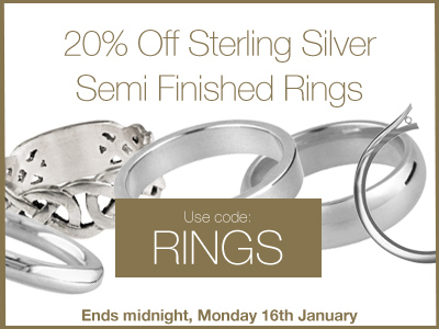 20% OFF Sterling Silver Semi Finished Rings