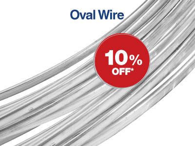 10% Off Oval Wire