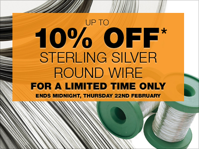 Up To 10% OFF* Sterling Silver Round Wire!