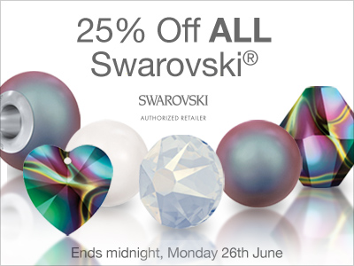 Shop Swarovski® Crystal and Save 25% OFF