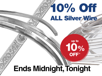 Sterling Silver Wire Sale 10% Off - ENDS MIDNIGHT