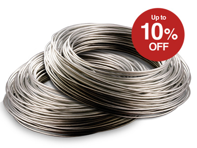 10% OFF Sterling Silver Round Wire