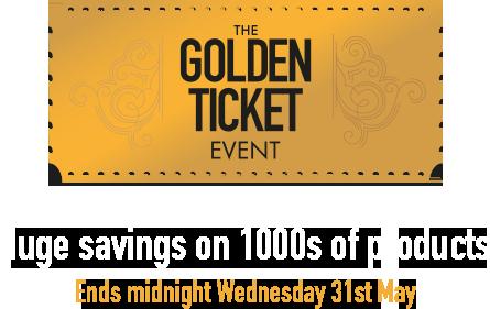 Golden Ticket Cooksongold