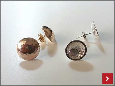 Classic Domed Earrings, by Janet Royle