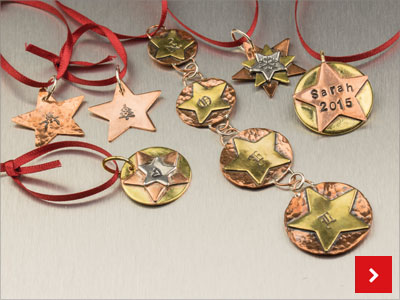 Festive Stars and Stamps, by Lydia Niziblian