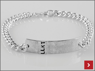 Personalised Chunky Gents ID Bracelet, By Lydia Niziblian