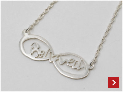 Personalised Pierced Silver Necklace by Silvia Costantini