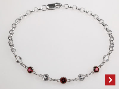 Red and White Bracelet by Scott Rowley