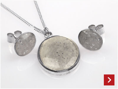 Sparkly Resin Pendant & Earrings by Lindsay Jeffs