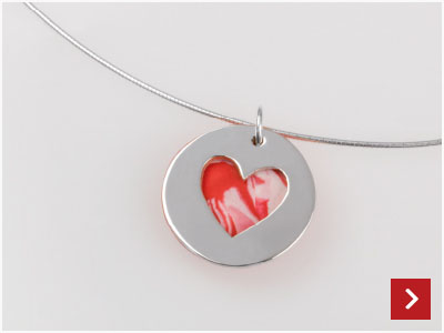 Upcycled Fimo Heart Necklace by Rienna Haycox