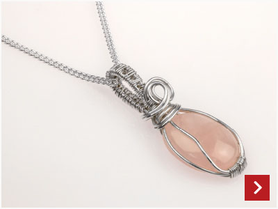 Wire Wrapped Pendant by Rebecca Robinson