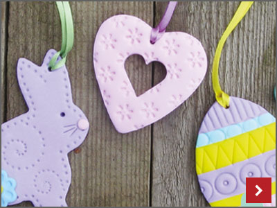 FIMO Polymer Clay Easter Decorations