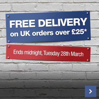 Free Delivery* on all UK Orders over £25!
