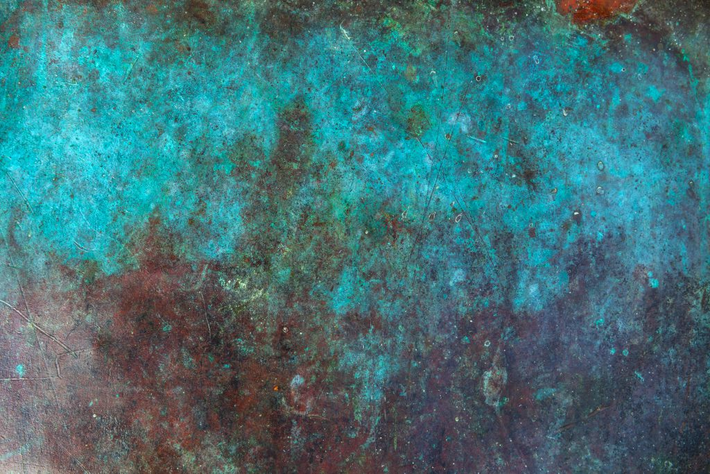 copper sheet after the patina process